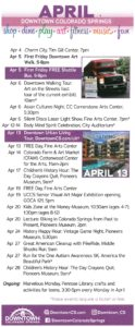 Downtown Colorado Springs events for April 2019
