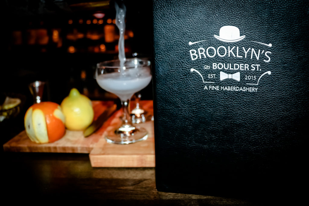 BROOKLYNS SPEAKEASY MENU