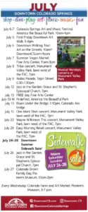 July 2019 Events Schedule