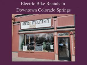 E-Bikes in Colorado Springs