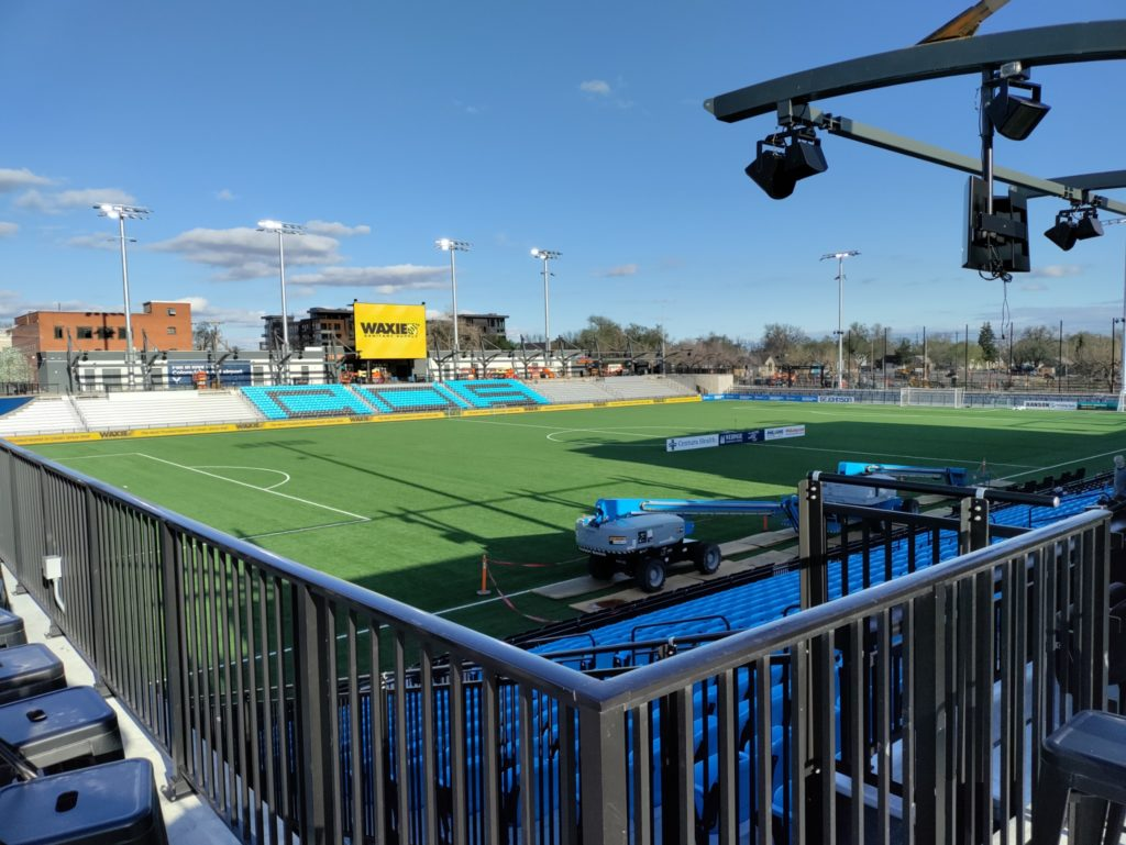 Weidner Field in downtown Colorado Springs hosts a variety of events including live music and home to the Switchbacks FC soccer team.