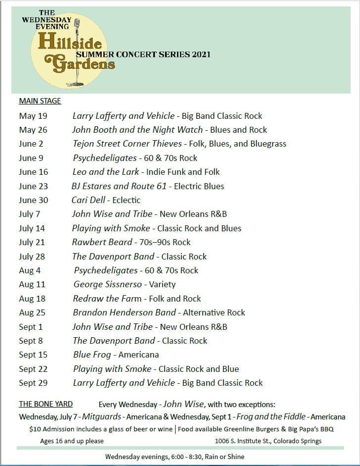 Hillside Gardens Summer Concert Series